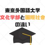 言語文化学部と国際社会学部の違いは?|東京外国語大学